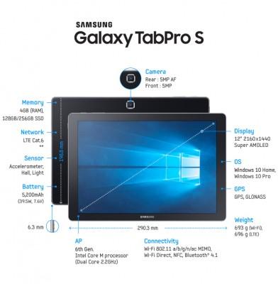 "Samsung TabPro S 12"" 128GB (Wi-Fi)"